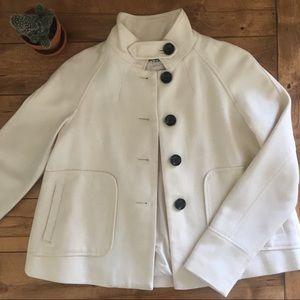Banana Republic XS white wool coat